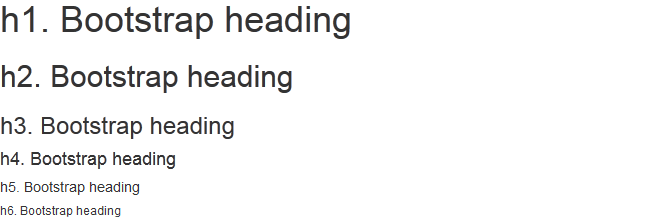 Bootstrap Headings