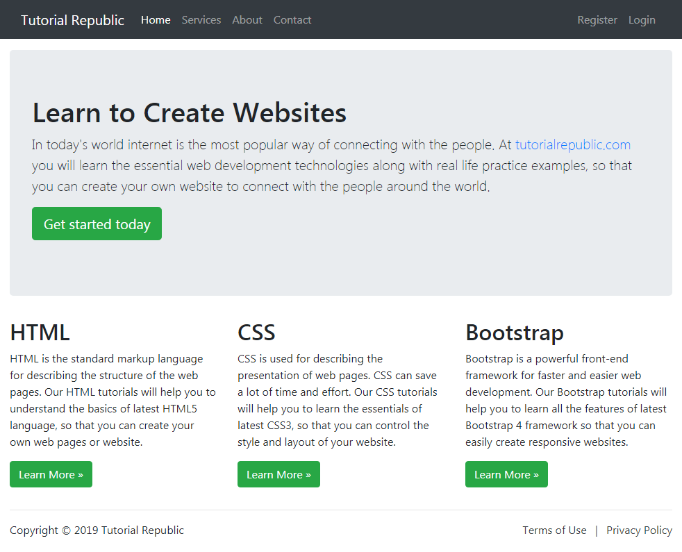Working With Bootstrap 4 Fluid Layout Tutorial Republic