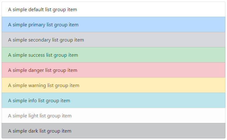 Bootstrap List Group with Contextual States