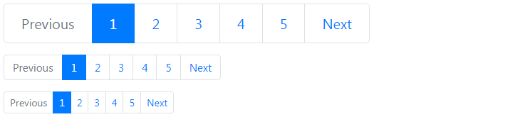 Bootstrap Larger and Smaller Pagination