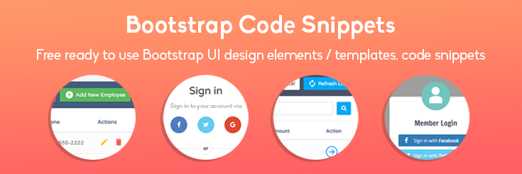 Free Bootstrap Snippets and templates