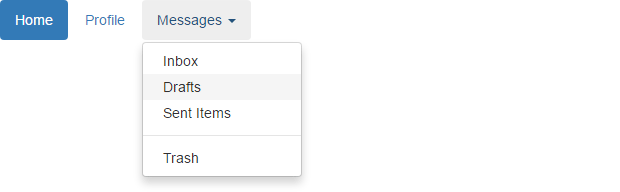 Bootstrap Pills with Dropdown Menus