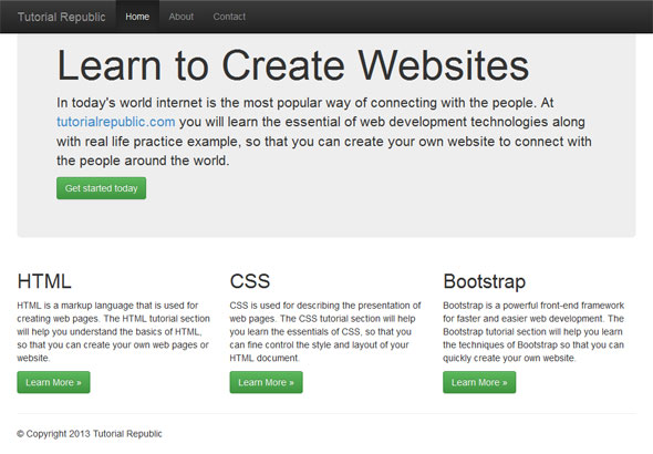 Bootstrap Fixed Layout