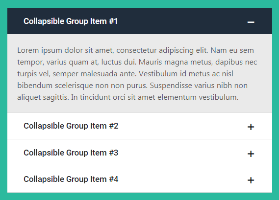 Bootstrap Accordion Examples (Live Demos & Codes) - Tutorial