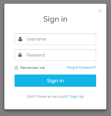 login form bootstrap code examples