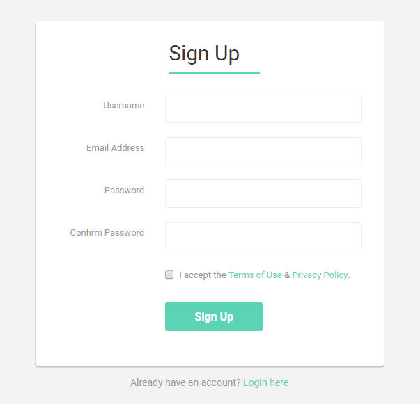 Bootstrap Sign Up Form Examples Live Demos Codes Tutorial Republic