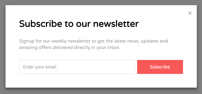 d741d62425d70 Bootstrap Simple Subscribe Newsletter Modal Template
